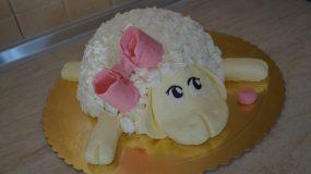 """Υπέροχη τούρτα """"προβατάκι"""" για το παιδικό party!"""