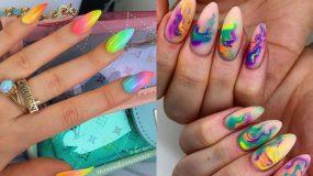 Tie dye μανικιούρ: Το πιο χρωματιστό μανικιούρ του Καλοκαιριού! Δες 15 ιδέες