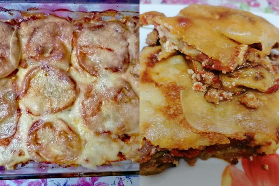 Συνταγή για σουφλέ λαχανικών με κιμά & λιωμένα τυριά!