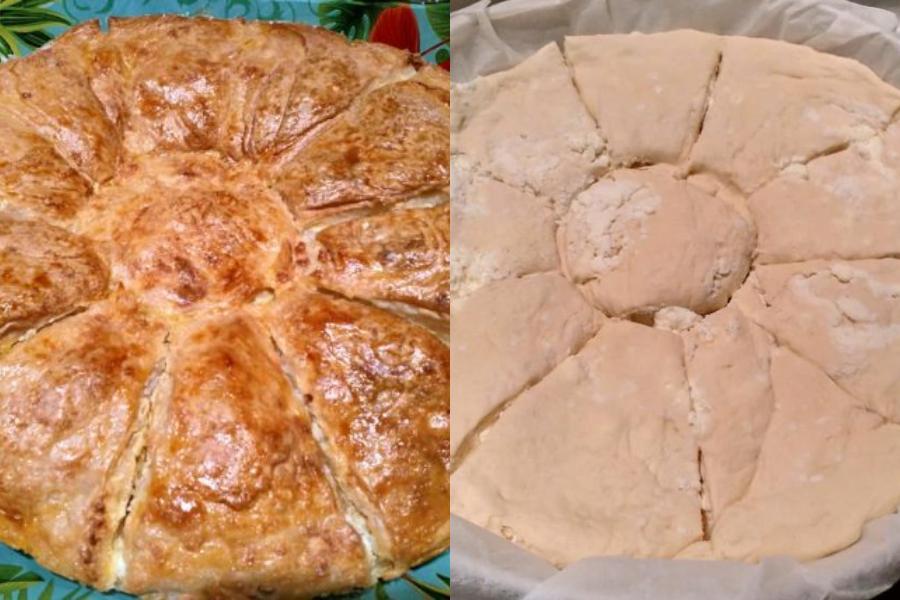 Πίτα μαργαρίτα με γιαούρτι, φέτα και ανθότυρο από τη Σοφία Καρά