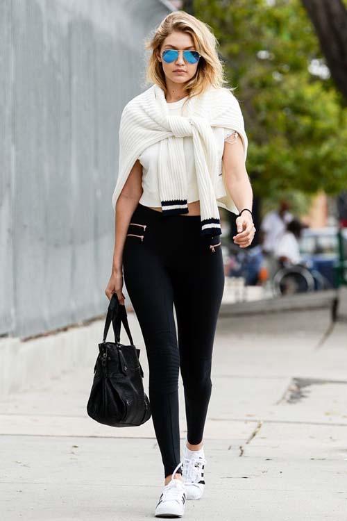 μαυρο παντελόνι με λευκό τοπ