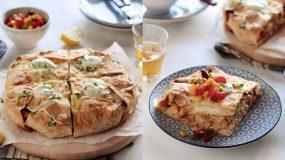 Νόστιμη πίτα fajitas με τορτίγια & κοτόπουλο! Συνοδεύει άψογα την μπύρα σας!