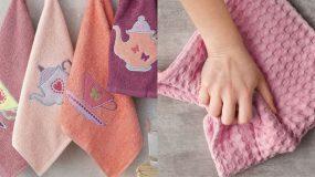 2 έξυπνα κόλπα που θα σας βοηθήσουν να  καθαρίσετε τους δύσκολους λεκέδες & να απολυμάνουν τις πετσέτες της κουζίνας!
