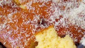 Εύκολο, αφράτο & γευστικό κέικ καρύδας χωρίς μίξερ