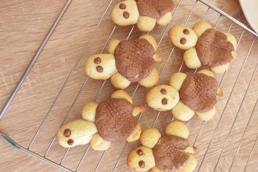 Μπισκότα βουτύρου σε σχήμα χελώνας  για το παιδικό party!