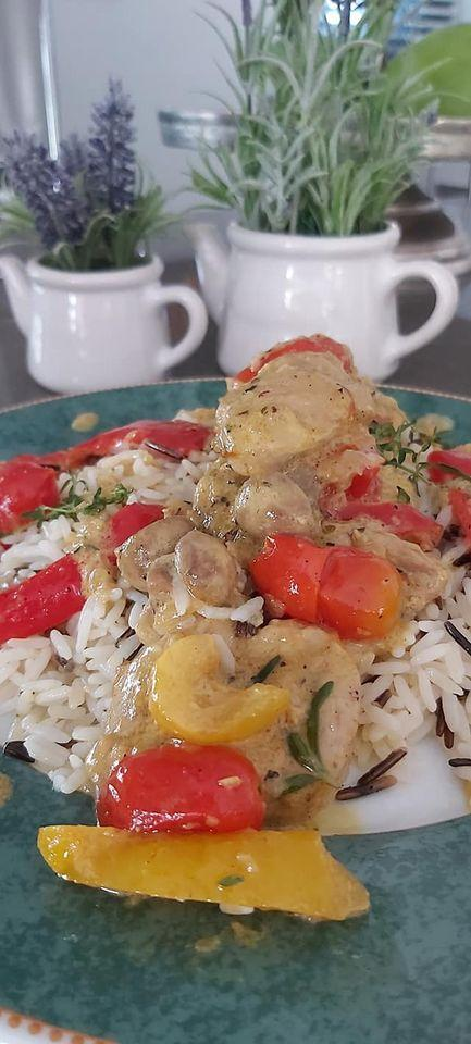 Συνταγή για ψαρονέφρι με μανιτάρια και κρέμα γάλακτος light