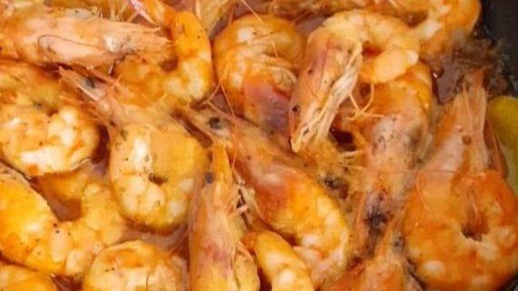 Συνταγή για γαρίδες  με ούζο και σάλτσα μουστάρδας