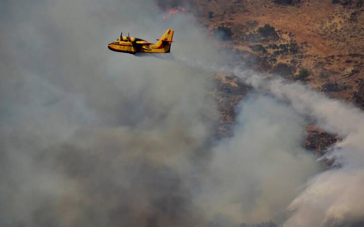 Έκτακτο: Μεγάλη Φωτιά ξέσπασε σε Διόνυσο και Νέο Βουτζά