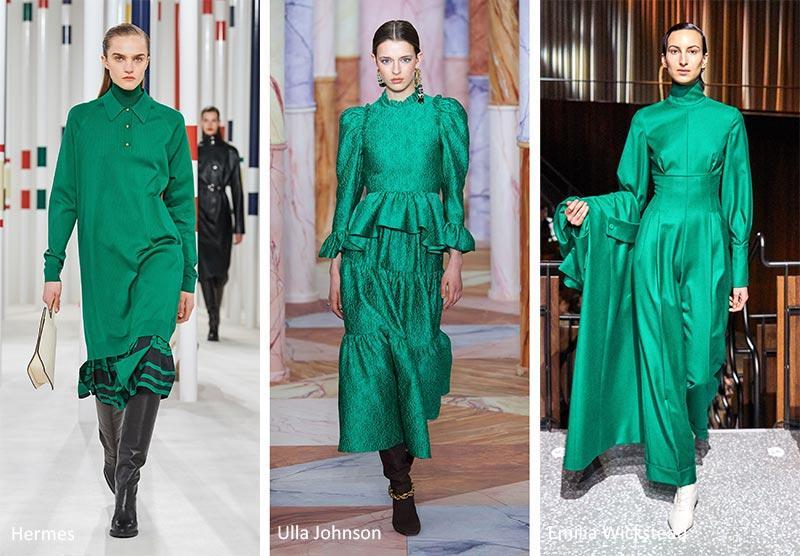Οι νέες τάσεις στα γυναικεία χρώματα στα ρούχα το Χειμώνα 2020 - 2021 πράσινο