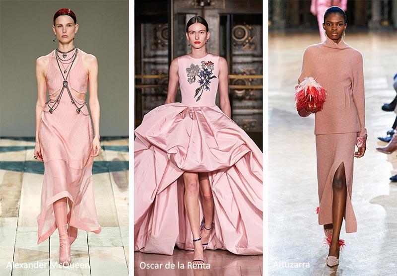 ρούχα το Φθινόπωρο - Χειμώνας 2020 - 2021; ροζ