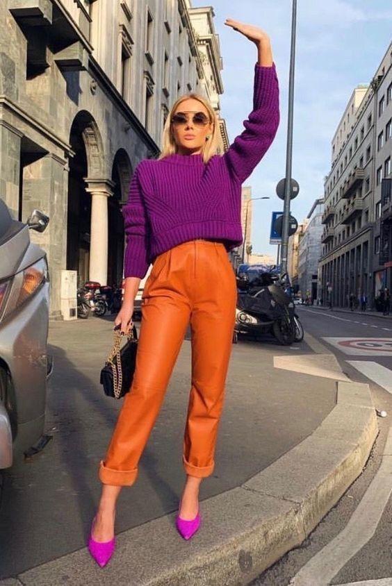 γυναικεία χρώματα στα ρούχα το Φθινόπωρο - Χειμώνας 2020 - 2021 πορτοκαλι