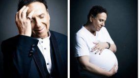 Ο Χάρης Ρώμας κάνει τη διαφορά και ποζάρει έγκυος (φωτογραφίες)