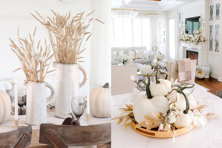 15 ιδέες διακόσμησης με βάση το λευκό για να φέρετε το φθινόπωρο στο σπίτι σας