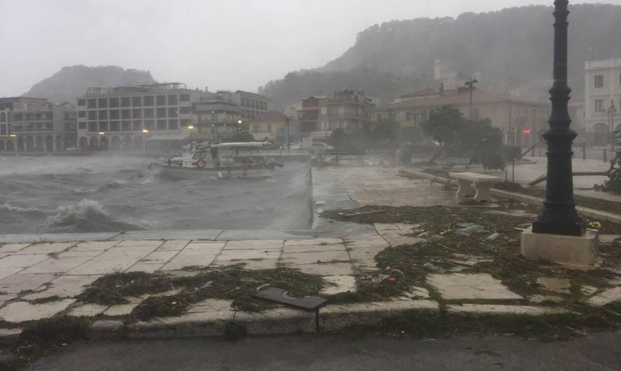 Ιανός: Ζάκυνθος, Κεφαλονιά και Ιθάκη στη δίνη του κυκλώνα (pics&vids)