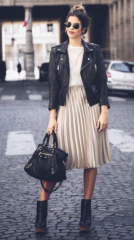 :Biker jacket: με φούστα
