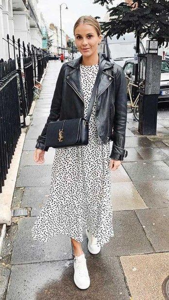 Biker jacket:Biker jacket: με φόρεμα