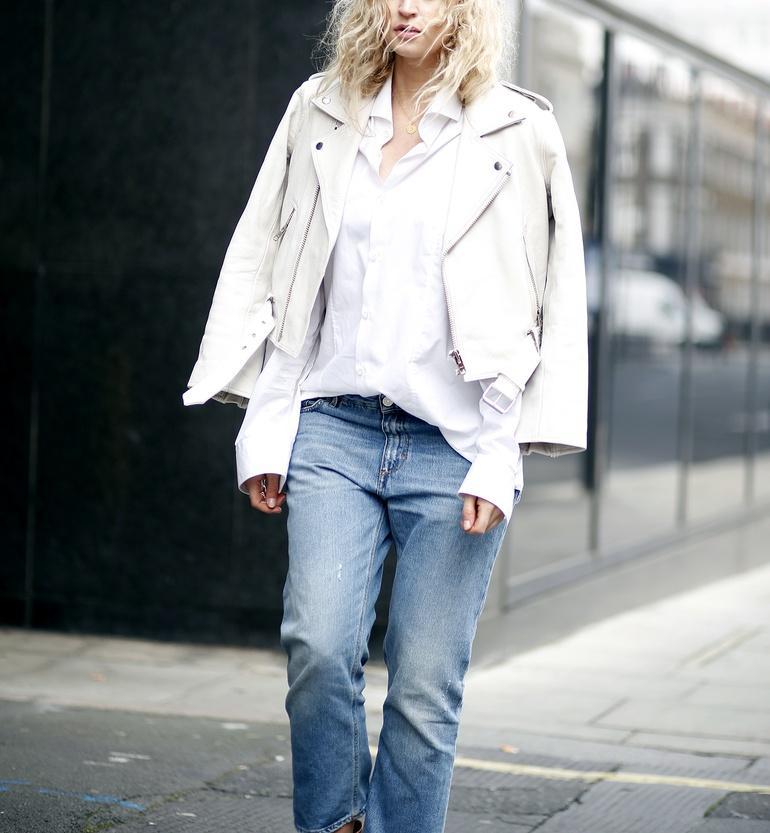 λευκό Biker jacket ιδέες
