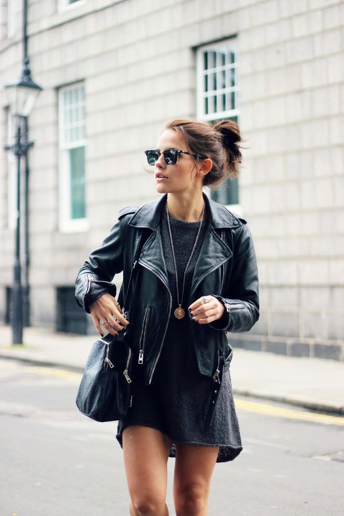 Biker jacket με φουστάνι ιδέες