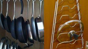 15 έξυπνες λύσεις για να εξοικονομήσεις χώρο και να  οργανώσεις εύκολα τις κατσαρόλες και τα τηγάνια της κουζίνας