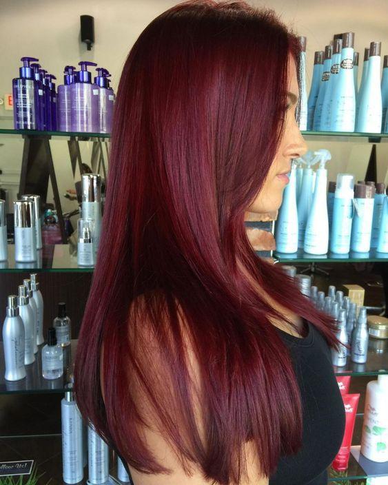 eggplant hair μακριά ίσια μαλλιά ιδέες