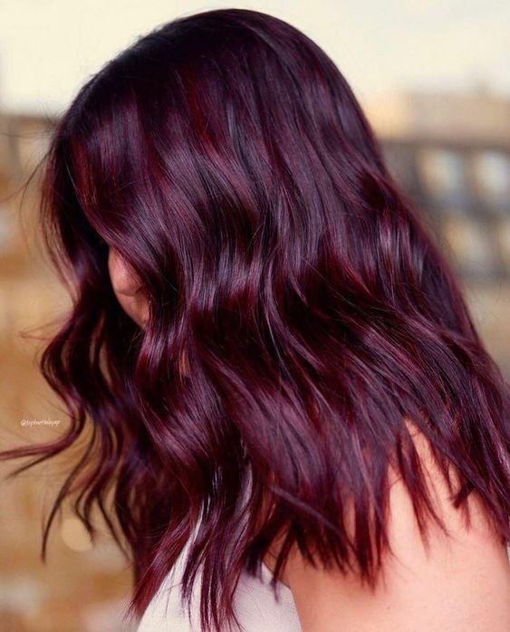 eggplant hair σε σπαστά μαλλιά