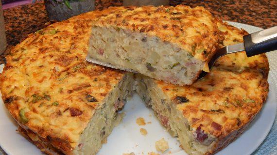 Φανταστικό σουφλέ πατάτας με μπέικον, μανιτάρια τυρί