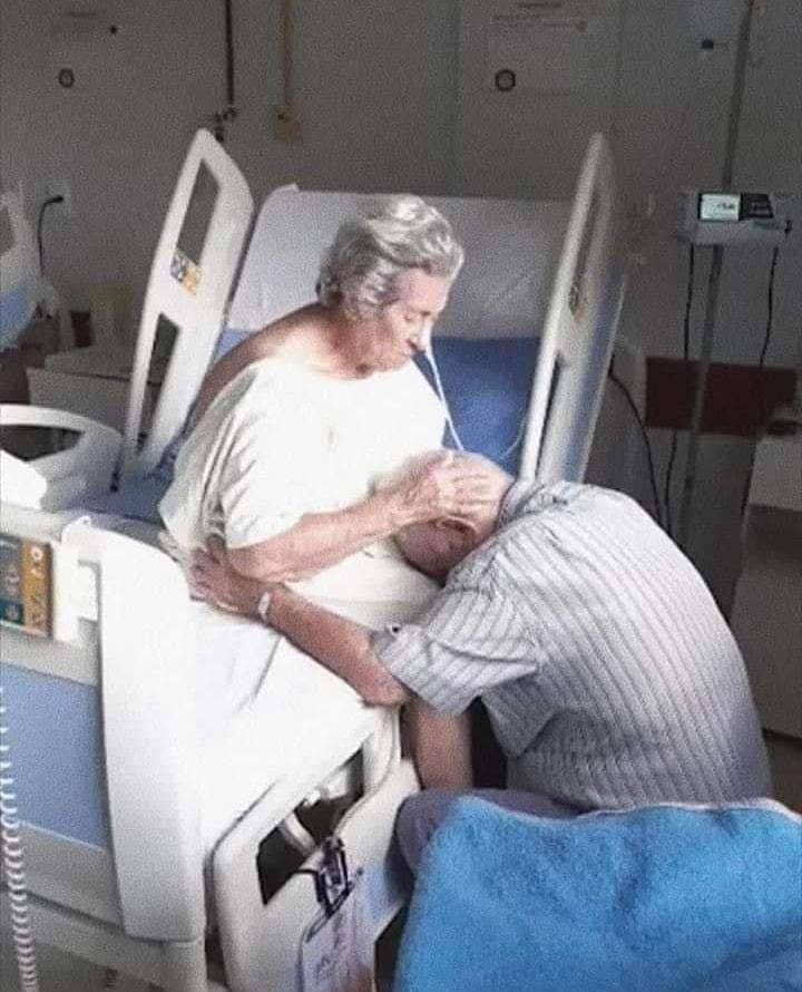 παππούς και γιαγιά στο νοσοκομείο συγκινητικές φωτογραφίες