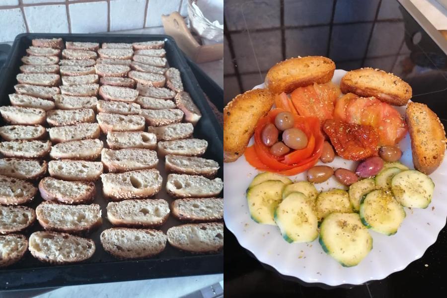 Συνταγή για τραγανά σπιτικά παξιμάδια από την Μάνη
