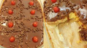 Εύκολο γλυκό ψυγείου με κρέμα βανίλια & μπισκότα βρόμης