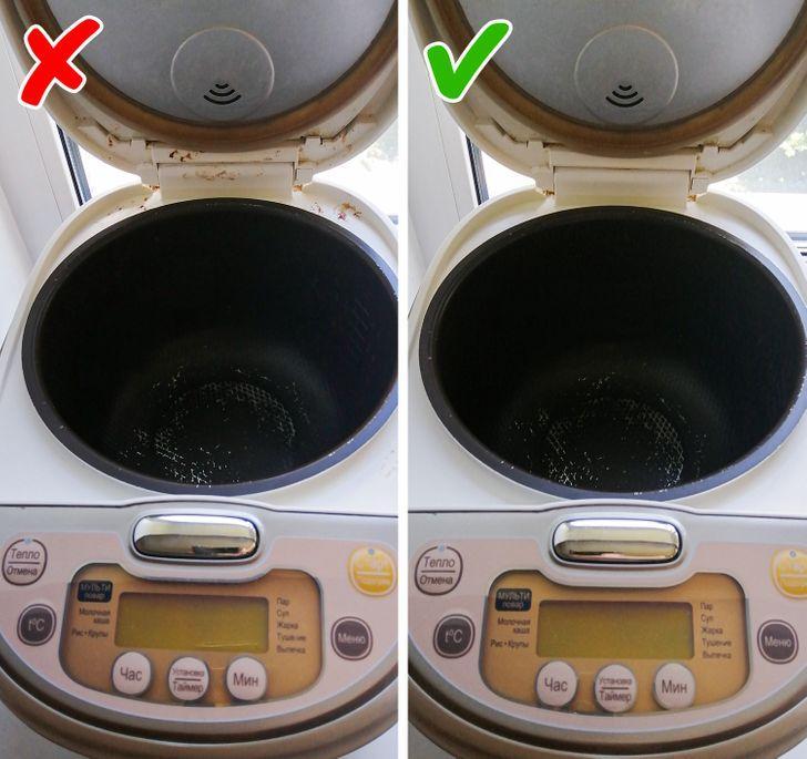 καθαρίζω τις ηλεκτρικές συσκευές της κουζίνας
