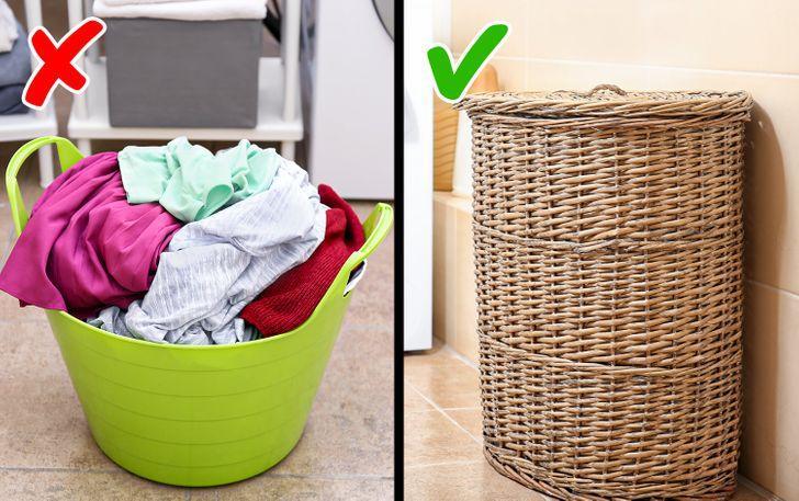 καλάθι άπλυτων ρούχων - Σημεία που ξεχνάμε στο καθάρισμα