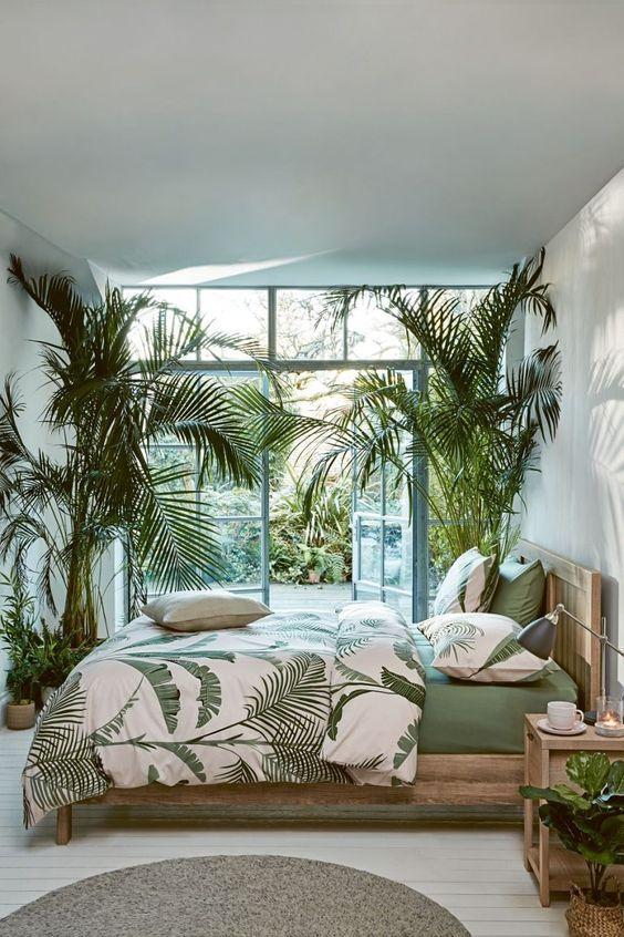 Οι τάσεις που θα κυριαρχήσουν στην διακόσμηση το 2021: Φυτά εσωτερικού χώρου στην κρεβατοκάμαρα ιδέες