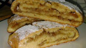 Ιταλικό ρολό με μαρμελάδα και καρύδια (Biscotti Arrotolati)