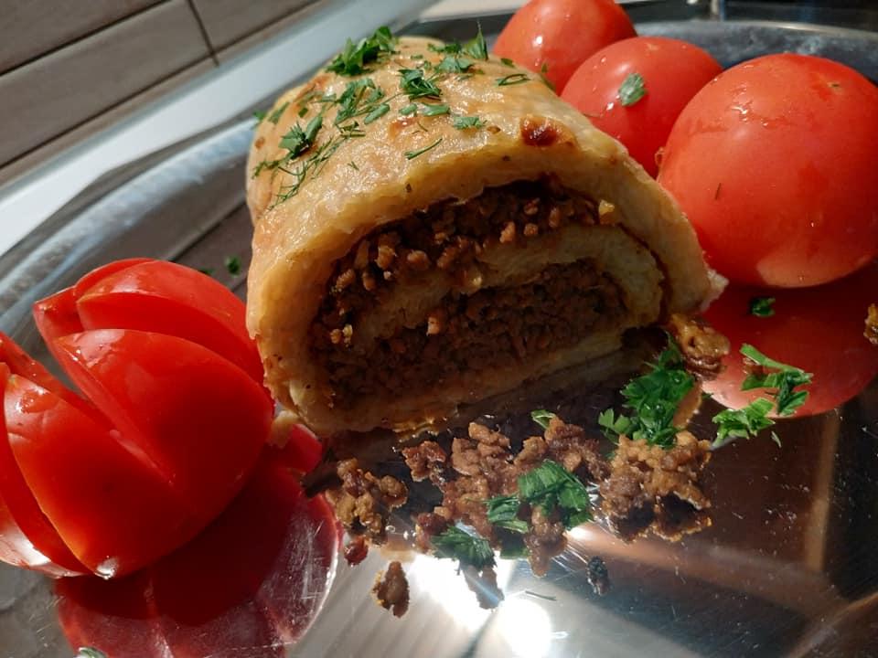 συνταγή για ρολά πατάτας με γέμιση κιμά