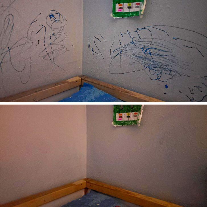15 έξυπνα κόλπα γονέων: πως θα καθαρίσεις εύκολα τους λερωμένους τοίχους από μαρκαδόρο