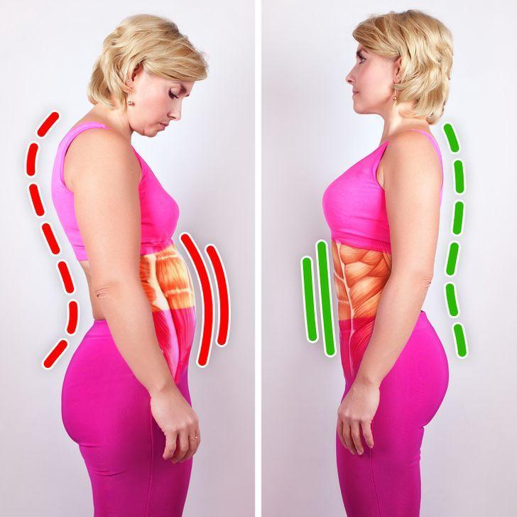 8 μικρές συνήθειες που θα επιταχύνουν την απώλειας βάρους σας: Ίσιωσε το σώμα σου
