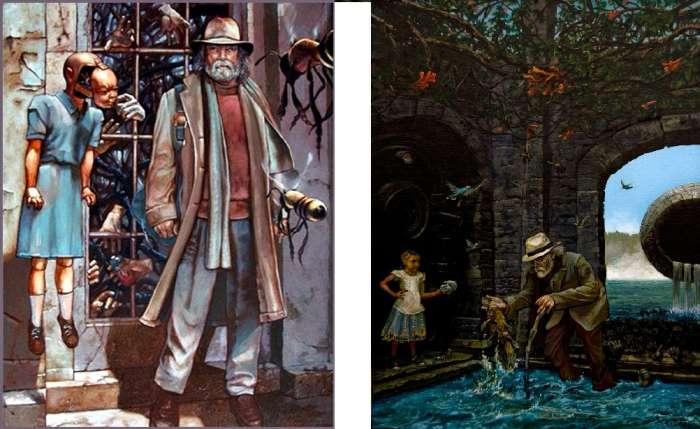 """""""Αντίσταση στο Κατώφλι"""" και """"Το Κατώφλι της Αποκάλυψης"""" πίνακες ζωγραφικής"""