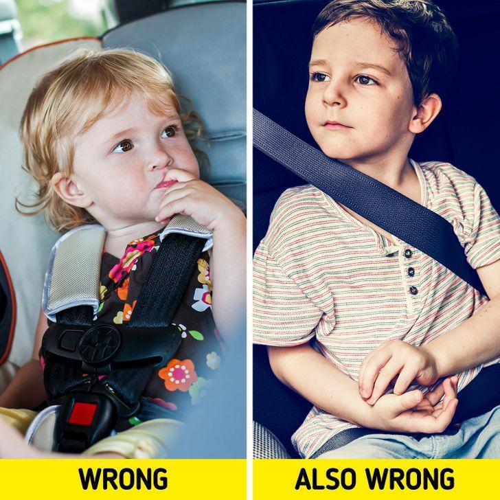 12 λάθη που όλοι οι γονείς έχουν κάνει: δεν βάζουμε σωστά την ζώνη ασφαλείας στο καθισματάκι του παιδιού