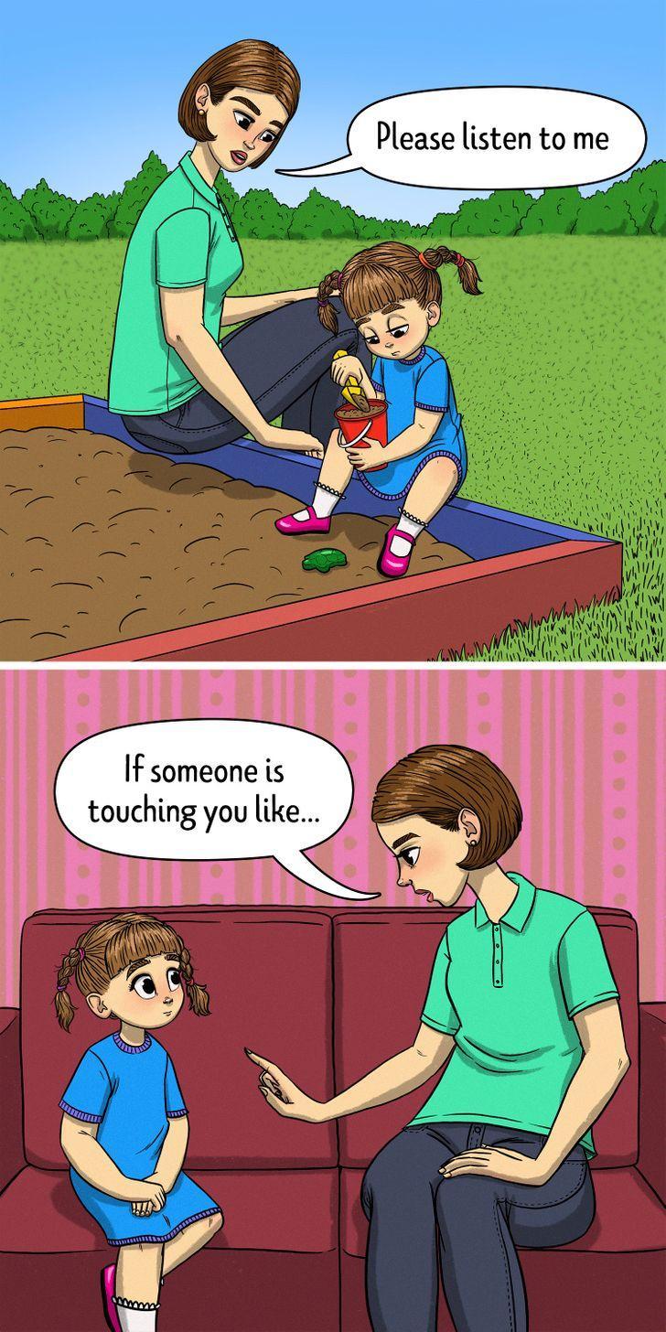 """7 τρόποι για να διδάξετε στα παιδιά το """"ασφαλές"""" και το """"μη ασφαλές"""" άγγιγμα: Συζητήστε με το παιδί σας σε ένα ήσυχο μέρος μακριά από περισπασμούς."""