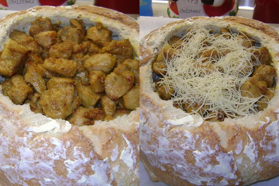 Πεντανόστιμη τηγανιά ψημένη σε καρβελάκι με τυριά