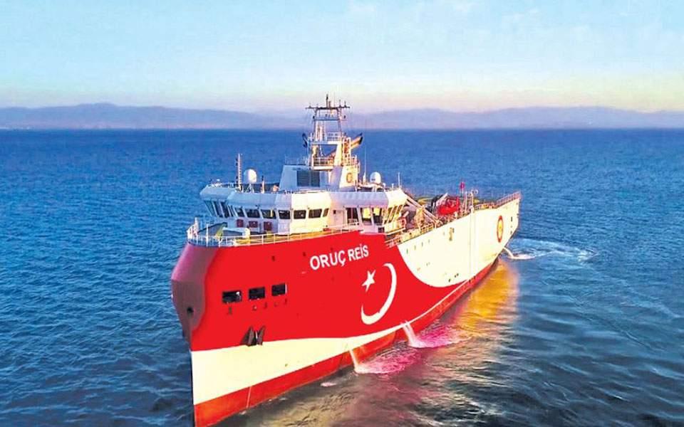 Oruc Reis: Πλησιάζει το Καστελόριζο – Κάτω από τα 12 ναυτικά μίλια