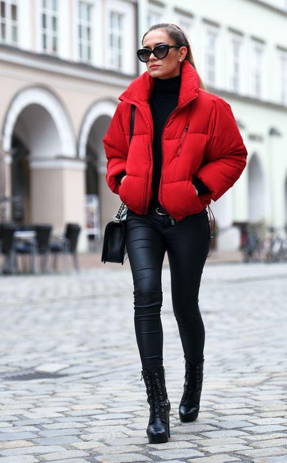 Puffer jackets: κόκκινο puffer jacket