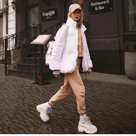 Puffer jackets: λευκό puffer jacket