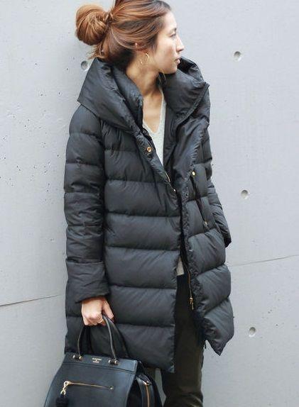 Puffer jackets: μαύρο μακρύ puffer jacket