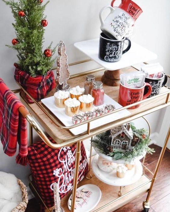 Χριστουγεννιάτικη διακόσμηση: Χριστουγεννιάτικος στολισμός σε καρό αποχρώσεις