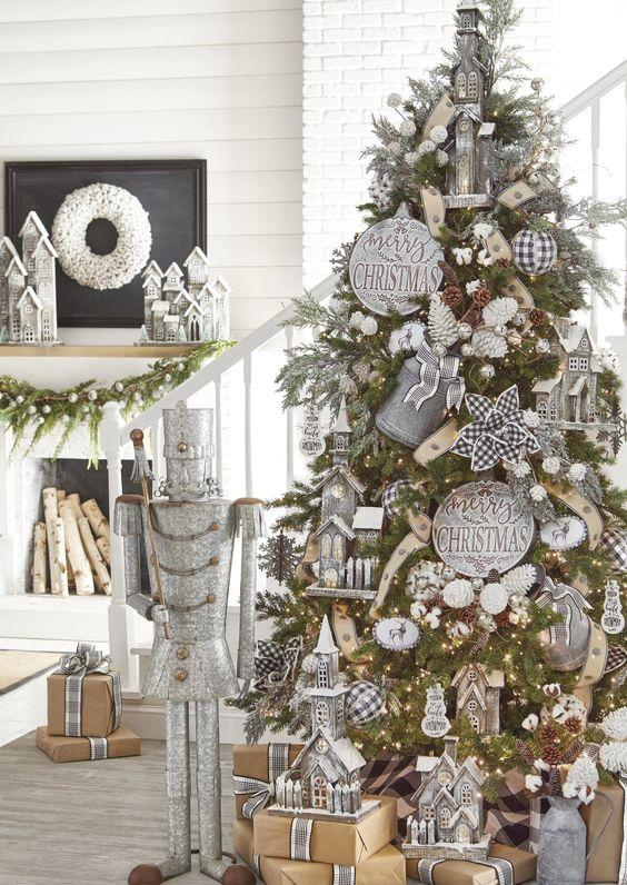 Χριστουγεννιάτικη διακόσμηση: μεταλλικά στολίδια για τα Χριστούγεννα