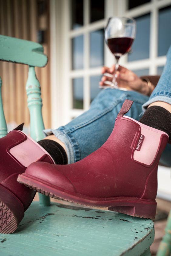 Γαλότσες: Μποτάκια σε μπορντό και ροζ χρώμα