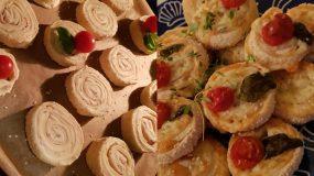 Ρολάκια σφολιάτας με ντοματίνια και  τυριά το τέλειο ορεκτικό