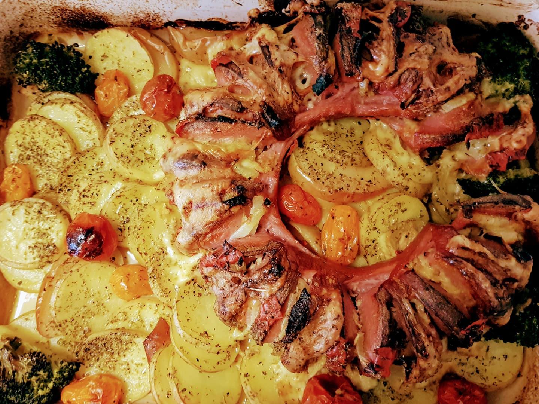 γεμιστό λουκάνικο στον φούρνο συνταγή