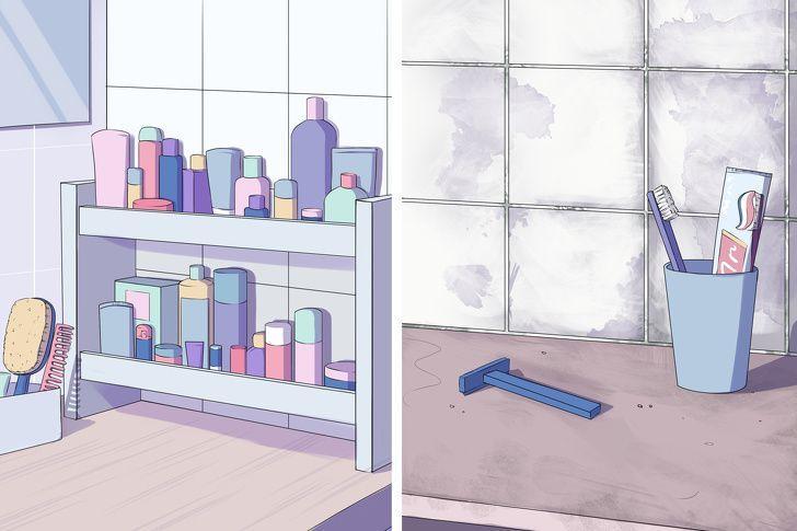 Τι σημαίνει για την ψυχολογία σας κάθε μέρος του σπιτιού που είναι ακατάστατο: βρώμικο μπάνιο